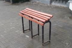 Скамейка инвалидная опорная. Установка на Савеловском вокзале.