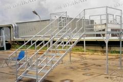 Быстросборная металлическая лестница от производителя