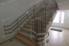 Производство ограждений на лестницу для детского сада. Нержавеющая сталь. Соответсвует ГОСТ