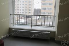 Вертикалная решетка из нержавеющей стали. В комплексе работ с лестничными перилами