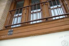 Наружное ораждение окна. Окрашенная сталь
