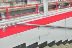 Опорный поручень нержавеющий метро настенный