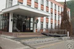 Вход в административное здание с пандусом для инвалидов ГОСТ