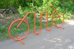 Та же самая модель «волна», только в виде велосипеда. Окрашена парковка может быть в любой цвет в зависимости от пожеланий Заказчика.
