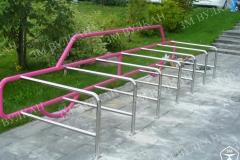Велопарковка машина произведена и установлена для ТЦ «РИО» по индивидуальному проекту.