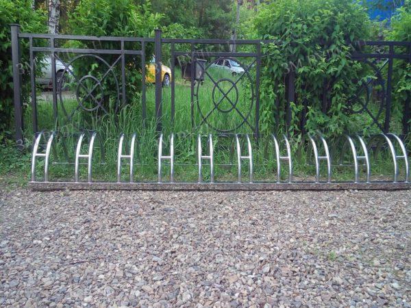 Велопарковка напольная из нержавеющей полированной стали