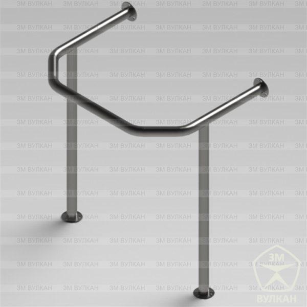 Поручень для раковины на стойках для полукруглой раковины РС2