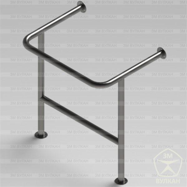 Поручень для раковины на стойках с защитой слива раковины РС3