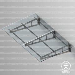 Козырек стеклянный. Тип 2.2