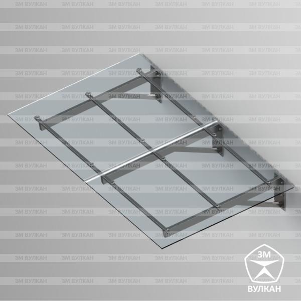 Козырек стеклянный. Тип 2.3