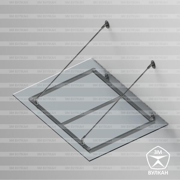 Козырек стеклянный на тягах тип. 5.1