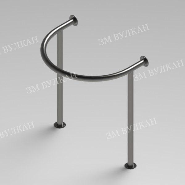 Поручень для угловой раковины на стойках РС5