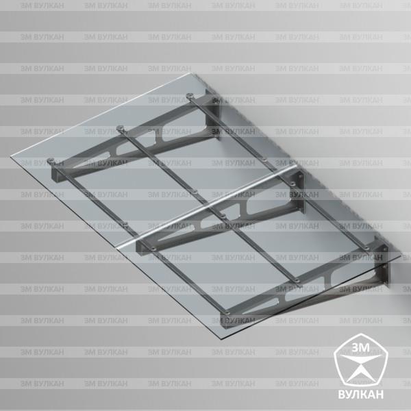Козырек стеклянный. Тип 2.1