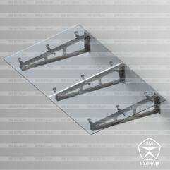 Козырек стеклянный тип 4.1