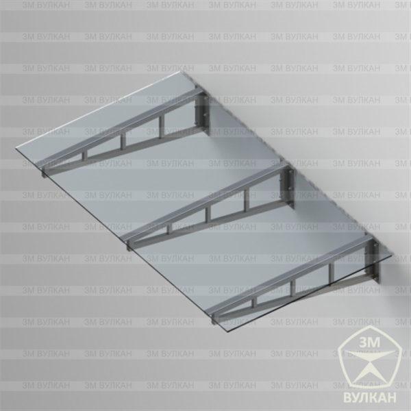 Kozyrek 1.2 600x600 - Козырек стеклянный. Тип 1.2