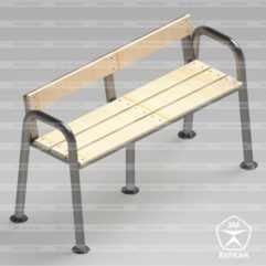 skameyka mgn 241x241 - Скамейка опорная для МГН