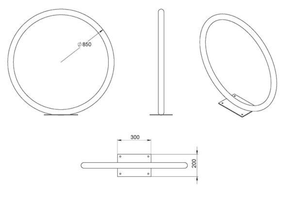 VS 25 600x411 - Велопарковка «Кольцо» ВС-25