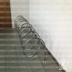 Велопарковка спираль из нержавеющей трубы