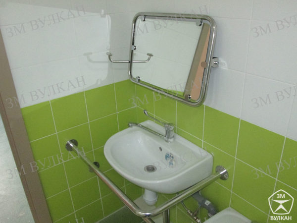 11 1 600x450 - Зеркало поворотное откидное для инвалидов 600х600 мм антибактериальное