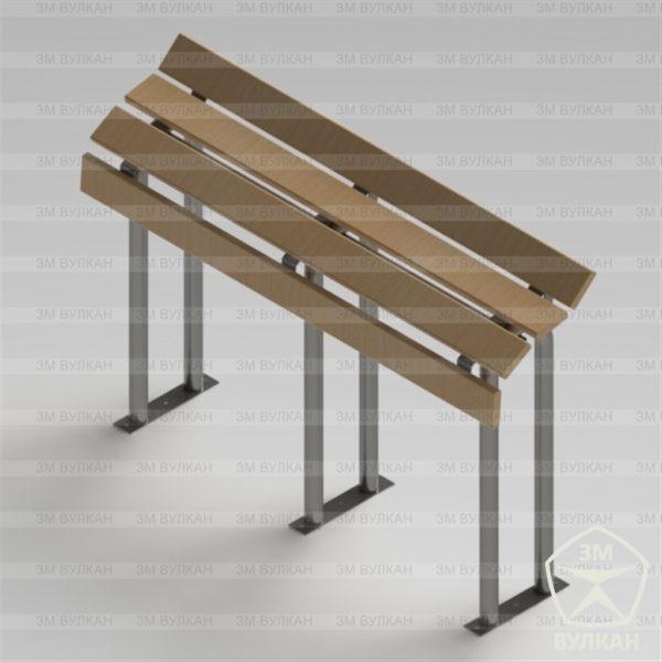 Skamejka dlya opornikov 600x600 - Опорная скамейка для МГН из нержавеющей стали