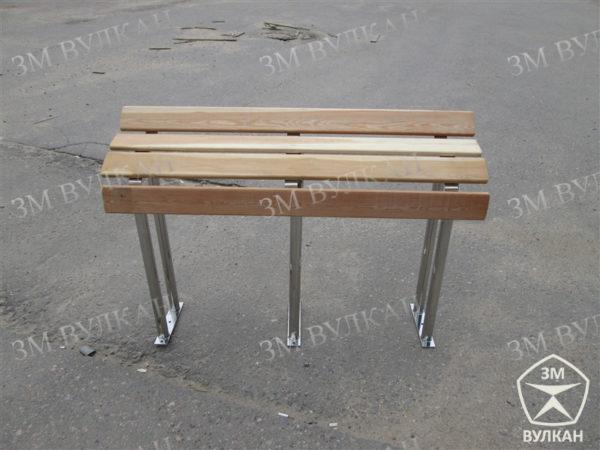 Skamejka dlya opornikov   600x450 - Опорная скамейка для МГН с антибактериальным покрытием стали