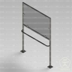 Стойка для мнемосхемы со стеклодержателями
