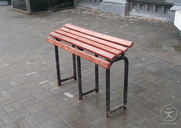 wm image2 600x427 - Опорная скамейка для МГН с антибактериальным покрытием стали