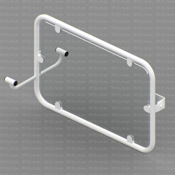 Zerkalo 600x600 - Зеркало поворотное откидное для инвалидов 600х600 мм антибактериальное