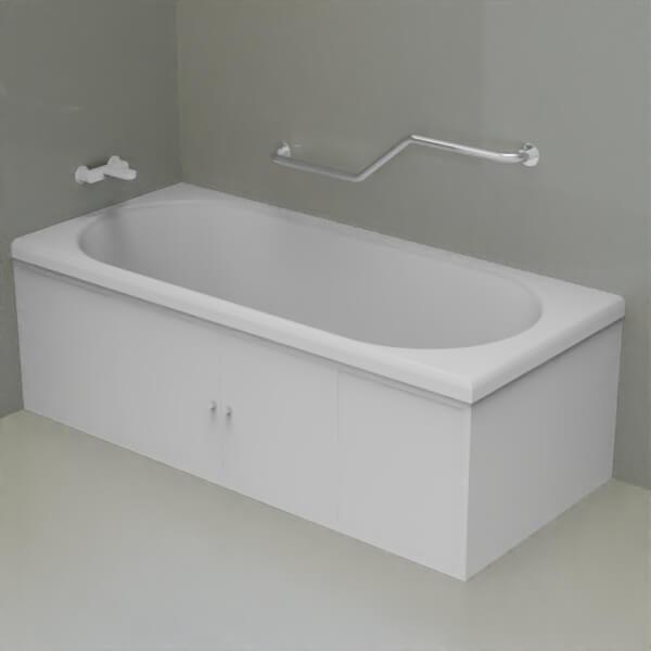 N2 600x600 - Поручень ломаный настенный для ванной из полированной нержавейки Ø 30
