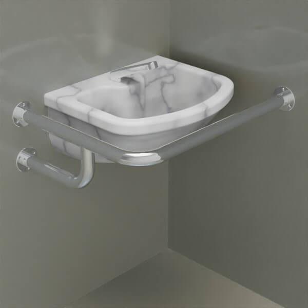 rn3 right 600x600 - Поручень стационарный РН3П из нержавеющей полированной стали
