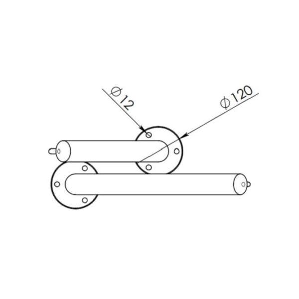 """Дизайнерская велопарковка """"веточка"""" - размерная схема креплений"""