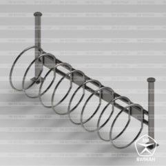 Велостоянка кольца. Четырехместная. Артикул ВС-20
